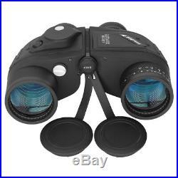 10X50 Binoculars For Stargazing BAK4 Prism Waterproof With Rangefinder Compass