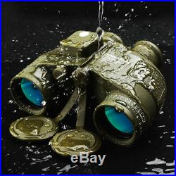 10x50 BAK4 HD Night Vision Rangefinder Optical coating FMC Binoculars WithCompass