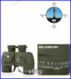 10x50 HD Optics Night Vision Binoculars With Compass and Rangefinder Telescope