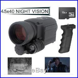16GB Infrared IR Digital Night Vision Video Camera Monocular Scope Gen2 DVR+Grip