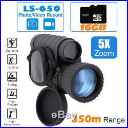 16GB Night Vision Hunting Camera Goggles Binocular Monocular Digital NV Security