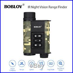 200M IR Night Vision Monocular 500M Laser Range Finder Small Target Distance