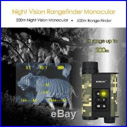 200M Infrared Night Vision Monocular Telescope 500M Laser Range Finder Pressure