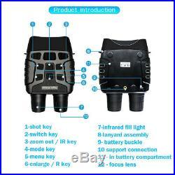 2.31Inch HD Night Vision Digital Binoculars Infrared Illuminator For Hunting