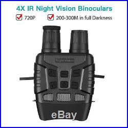 2.3 Inch Screen 4X Zoom IR Night Vision Binoculars Photos Videos Camera FOV 10°