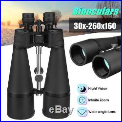 30x-260x160 HD Zoom Night Vision Optical Binoculars 160MM Green Lens Telescopes