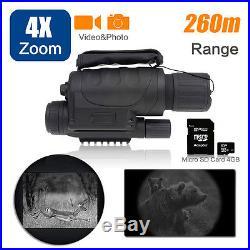 4x40 Digital IR Night Vision Monóculo 350m 5xZoom Hunting Camera Video Recorder