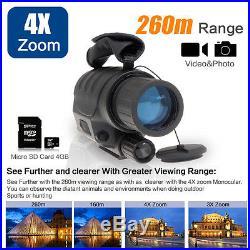 4x40 Infrared Dark Night Vision IR Monocular Binoculars Telescopes Scope Hunting