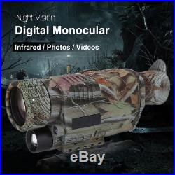 5X40mm Night Vision Monocular IR Infrared Telescope HD Hunting Camera Video LY