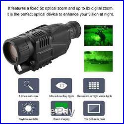 5X Night-Vision Monocular Infrared Night Vision Telescope Darkness Navigation