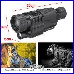 5x40 Infrared IR Night Vision Hunting Monocular Telescope Digital Video Camera