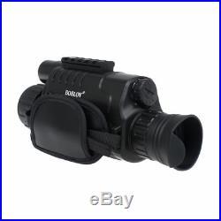 5x Digital Zoom IR Night Vision Monocular 5MP 8GB Video DVR 850nm Binoculars