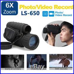 6x50 Handheld IR Infrared Digital Night Vision Monocular Hunting Telescope DVR