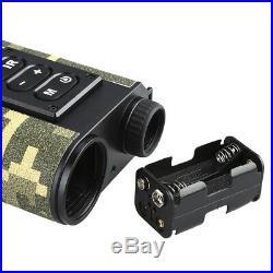 6x Optical Infrared Night Vision Monocular 500M Hunting Range Finder Temperature