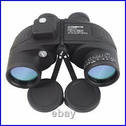 7X50 Binoculars HD Vision with Rangefinder Compass Hunting Boating Waterproof