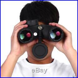 7X50 Military Marine Night Vison HD Binoculars Waterproof With Rangefinder Compass