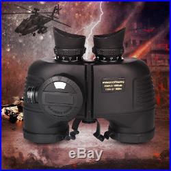 7X50 Night Vision Binoculars Waterproof Telescope With Compass Range Finder AM
