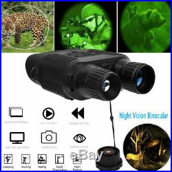 7X 5000m HD Night Vision Binoculars Military Hunting Telescope Video Recorder