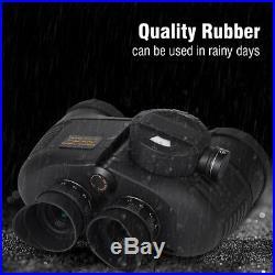 7x50 BAK4 HD Night Vision Rangefinder Compass Binocular Telescope Marine Hunt CR
