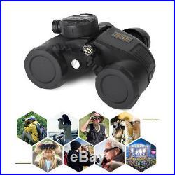 7x50 BAK4 HD Night Vision Rangefinder Compass Binocular Telescope Marine Hunt DY