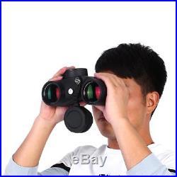 7x50 Day Night Vision HD Binocular Compass Rangefinder BAK4 Lens With Light JA