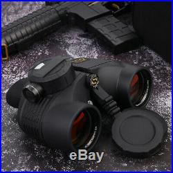 7x50 HD Military Binoculars Telescope Optics withCompass Range Finder Waterproof