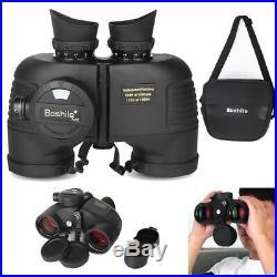7x50 HD Military Binoculars Telescope Outdoor Scope with Compass Range Finder
