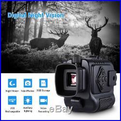 8GB 1-5X18 Multi-Purpose Night Vision Monocular 200M Auto IR Hunting Binocular