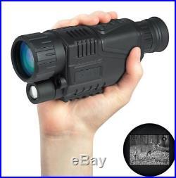 8GB WG-37 5x40 Digital IR Night Vision Monocular Take Photo Video+14500 Battery