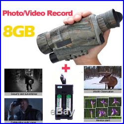 8G WG-37 5x40 Infrared IR Digital Night Vision Video Monocular Scope+2 Batteries