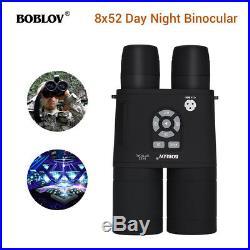 8x52 Optical Infrared Night Vision Binocular + APM Sensor Spotting Scope 335PPI