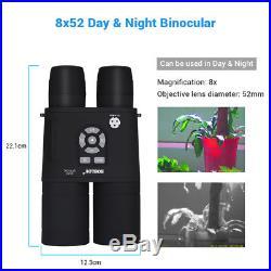 8x52 Optical Infrared Night Vision Binocular Spotting Scope Monocular 720P USA