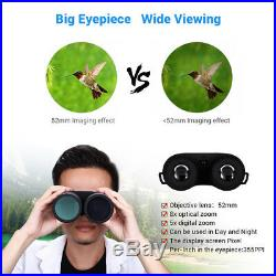 8x52 Optical Infrared Night Vision Binocular Telescope Spotting Scope Monocular
