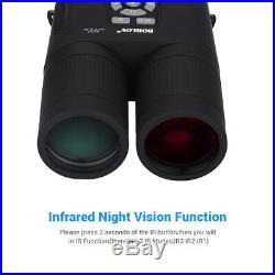 8x52 Optical Infrared Night Vision Digital Binocular + APM Sensor Spotting Scope