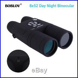 8x52 Optical Infrared Night Vision Digital Binocular Monocular Take Photo Video