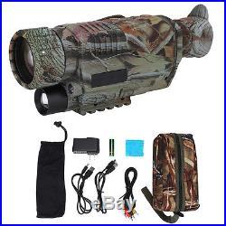 Adjustable Infrared Night Vision IR HD Monocular Telescope Hunting Camera GW
