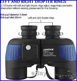 Aomekie 7X50 Binoculars Night Vision Waterproof Military Illuminated Rangefinder