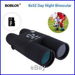 BOBLOV 8x52 Optical Infrared Night Vision Binocular Telescope +16GB Card 640480