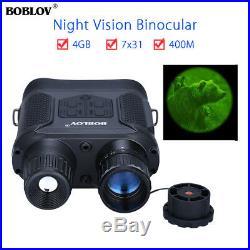 BOBLOV NV400 Night Vision Infrared 7x31 Binocular Monocular Scope Telescope 400M