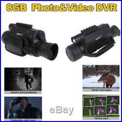 BOBLOV Night Vision WG-37 Digital IR Monocular 5x40 200m Range Record 8GB DVR