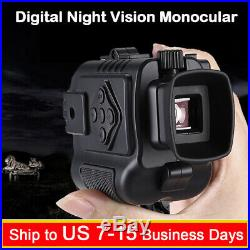 BOBLOV P4 8GB Night Vision Monocular 5X Digital Zoom Infrared 200Yards Visible