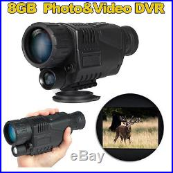 BOBLOV Tactical IR Infrared Night Vision Monocular 200m 5X40 Zoom Record DVR
