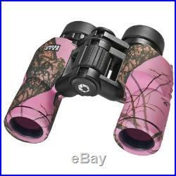 Barska 8x30 WP Crossover Pink Camo Binoculars, AB11434