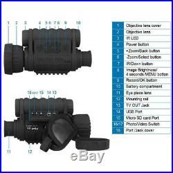 Bestguarder 6x50mm HD Digital Night Vision Monocular with 1.5 inch TFT LCD C K8