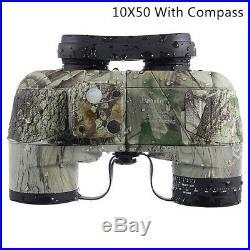 Binocular with Compass Night Vision 10x50 Professional Military Marine Hunting