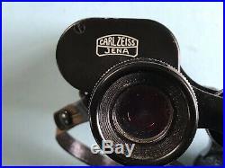 Carl Zeiss Jena Jenoptem 8 x 30 DDR Soft Leather Cased Binoculars No. 5380784