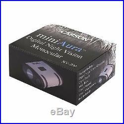 Carson MiniAura Digital Night Vision Monocular (NV-200) + Pouch & Wrist Strap