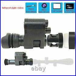 Digital Night Vision Sight Scope Monocular IR Camera HD 720P Photo Video Hunting