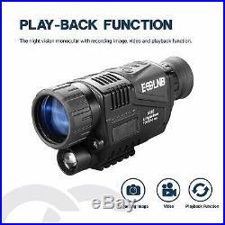 ESSLNB Night Vision Monocular 5X40 Night Vision Infrared IR Camera HD Digital