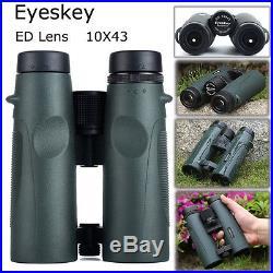 Eyeskey 10x43 ED Multi-Coated HD Night Vision Binoculars Waterproof For Hunting